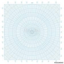 Blue Polar Coordinate Circular Grid Graph Paper Graduated