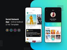 Android Design Inspiration Social Network App Ios Android Ui Kit Template Search