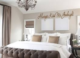 always kiss me goodnight saying vinyl decal wall art on vinyl wall art for master bedroom with 13 wall decor master bedroom master bedroom pleasant bedroom art