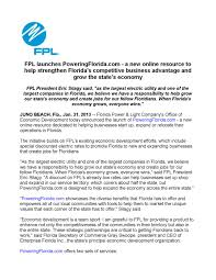 Florida Power And Light Jobs Fpl Launches Poweringflorida Com A New Online Resource To