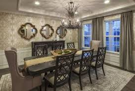 dining room designer furniture exclussive high: transitional dining room with interior wallpaper high ceiling carpet crown molding pendant