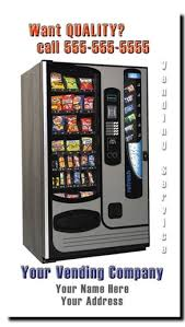 Buy A Vending Machine Business Magnificent Vending Route Business Cards Snack Machine Vending Business Cards