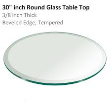 30 Inch Round Kitchen Table Amazoncom Fab Glass And Mirror 3 8 Thick Beveled Tempered Round