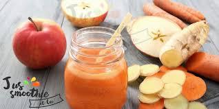 les bienfaits du jus de pomme carotte et gingembre de multiples vertus