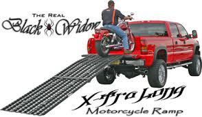 Black Widow Extra Long Motorcycle Ramp