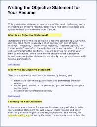 Best Job Objectives For Resumes Inspirational Good Job Objectives For Resume Resumemaker