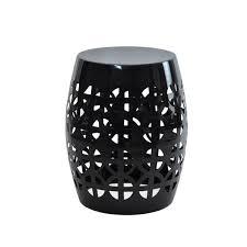 black garden stool. Interesting Stool Artisan Black Garden Stool Side Table In Stool O