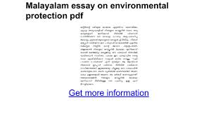 malayalam essay on environmental protection pdf google docs