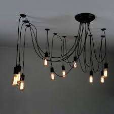 tremendeous multiple pendant lights of 10 light adjule swag black