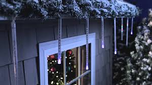 Philips Led Christmas Lights Battery Powered Philips Led Cascading Icicle Light Set 12 Count Can E