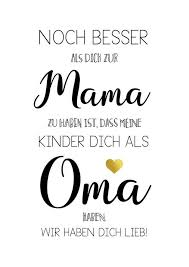 Spruch Poster Zum Muttertag Für Mama Und Oma Poster As A Mothers