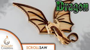 picture of dragon scroll saw wood art