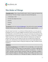 analytical essay om the order of things dk analytical essay om the order of things