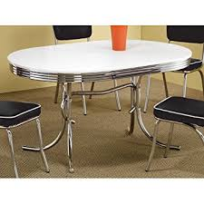 retro kitchen furniture. coaster 50u0027s retro nostalgic style oval dining table chrome plated kitchen furniture i