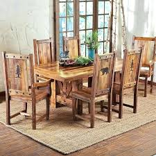distressed wood chairs dining room rectangular square reclaimed table farmhouse set chair rail