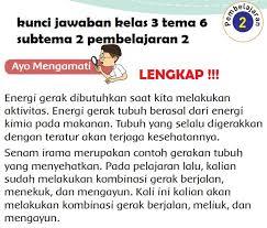 Soal tema 6 kelas tiga energi dan perubahanya. Kunci Jawaban Kelas 3 Tema 6 Subtema 2 Pembelajaran 2 Kunci Jawaban Lengkap Dan Terbaru Simplenews