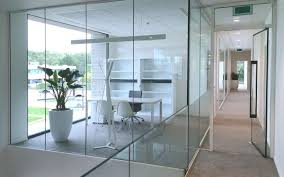 all glass frameless fire resistant doors