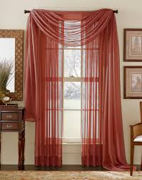 Red Swag Kitchen Curtains Sheer Curtains And Discount Semi Sheer Curtains Swags Galore