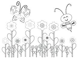 Printable Coloring Pages Of Flowers And Butterflies Printable Coloring Pages Flowers And Butterflies