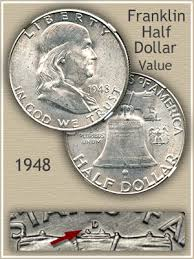 1959 Franklin Half Dollar Value Chart 1948 Franklin Half Dollar Value Discover Their Worth