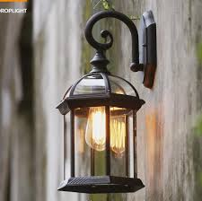 vintage waterproof outdoor wall lamp rust cottage antique balcony porch garden light outdoor lighting e27 outdoor