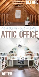 home office renovation. Attic Home Office. Turned Office Renovation