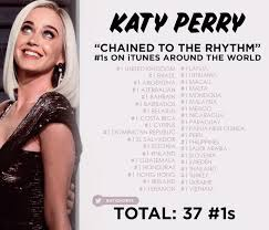 Katy Perry Chained To The Rhythm Charts