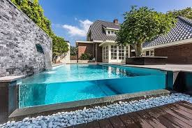 luxury home swimming pools. Interesting Luxury Above Ground Glass Rectangular Pool For A Luxury Home In Luxury Home Swimming Pools U