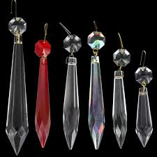 crystal u drop pendants