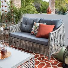 Coral Coast Berea Outdoor Wicker Storage Loveseat with Cushions