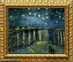 starry night over the rhone by vincent van gogh framed oil painting