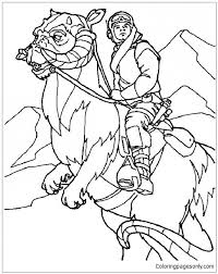 Small Picture Luke Skywalker Of Him Riding Tauntaun Coloring Page Free