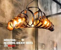 wine barrel lighting retro vintage ring pendant lights industrial lamps restaurant suspension home in from rustic