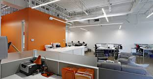 office orange. Contemporary Office Headquarters That Offered An Open-concept Main  Working Area With Clean Lines, Which Is Punctuated Pops Of Orange To Echo The