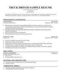 Commercial Truck Driver Best Truck Drivers Resume Sample Best