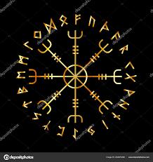 Skandinávská Runové Abecedy Vegvisir Magic Navigační Kompas Vikingů