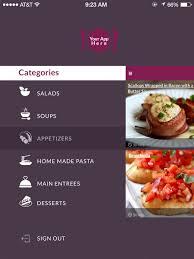 restaurant menu design app entry 2 by photogra for design an app mockup for ipad