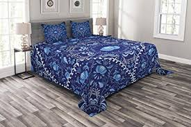 Bedspread Size Chart Amazon Com Navy Blue Duvet Cover Bedspread Set Twin Size