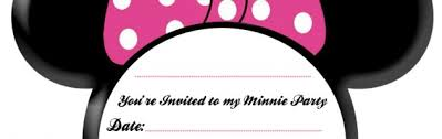 Minnie Mouse Blank Invitation Template Baby Minnie Mouse Pictures To Print Clipart Panda Free Clipart