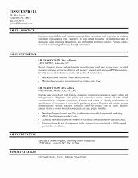 Resume Template Retail Associate Resume Template Free Career