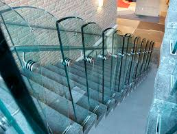 stainless steel railing glass panel indoor for stairs