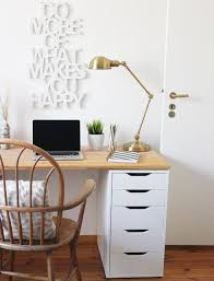 ikea office decor. DIY Desk For Two Using Ikea Alex Drawer + A Wooden Countertop | Easy Furniture Craft Office Decor