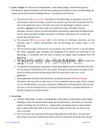 Recording Contract Template Contract Picture Of Recording Contract Template Recording Contract 24