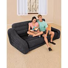 intex inflatable furniture. Inflatable Double Sofa Cum Bed With Air Pump - Black. Intex Furniture