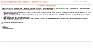 Ideas Collection Sample Experience Certificate Letter Format For Pre