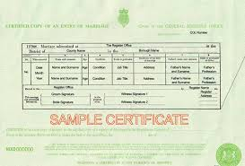 Wedding Certificate Template Classy UK Birth Marriage And Death Certificates