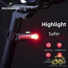 Đèn hậu xe đạp màu đỏ Rockbros sạc USB BK330