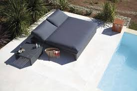 ... sunbed; double chaise DNA black ...