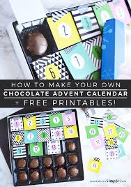 easy diy countdown chocolate calendar with this adorable free printable