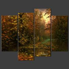birds in forest split canvas wall art pictures prints larger sizes available